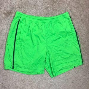 Lululemon Lime Green Athletic Shorts